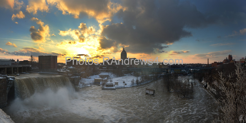 High Falls of the Genesee River in Rochester, NY