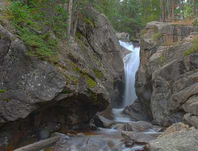 Chasm Falls Along Fall River Road in Rocky Mountain National Park