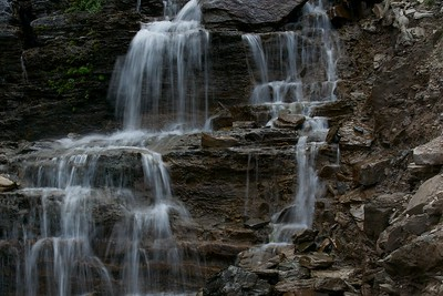 Waterfalls in Glacier National Park