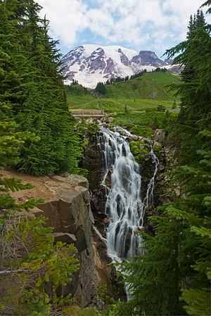 Mt Rainier from Myrtle Falls, Mt Rainier National Park
