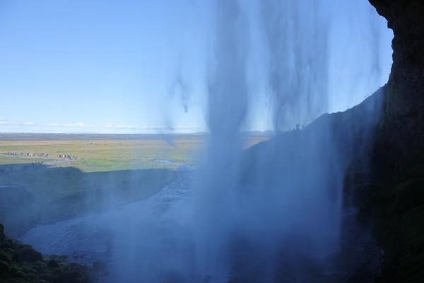 Behind Skogafoss Waterfall
