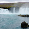 Godafoss Falls The water of the river Skjálfandafljót falls from a height of 12 metres over a width of 30 metres.