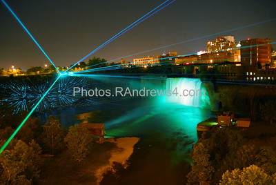 20100703 High Falls Laser Show, Rochester, NY