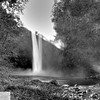 Snoqualmie Falls in black and white - 95