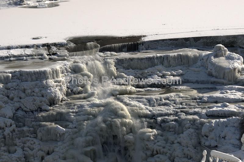 Lower Falls of the Genesee frozen