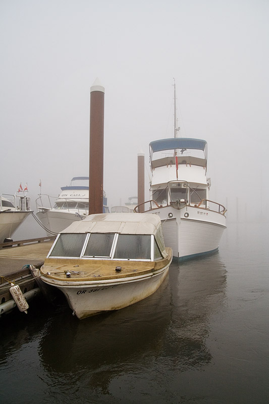 St. Helens City Docks in Fog
