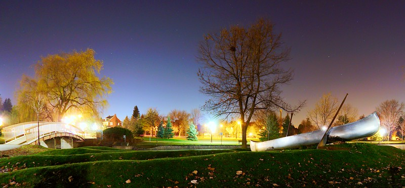 """Canoe in the Park""<br /> Victoria Park, Kitchener, Ontario.  Image # AL33"