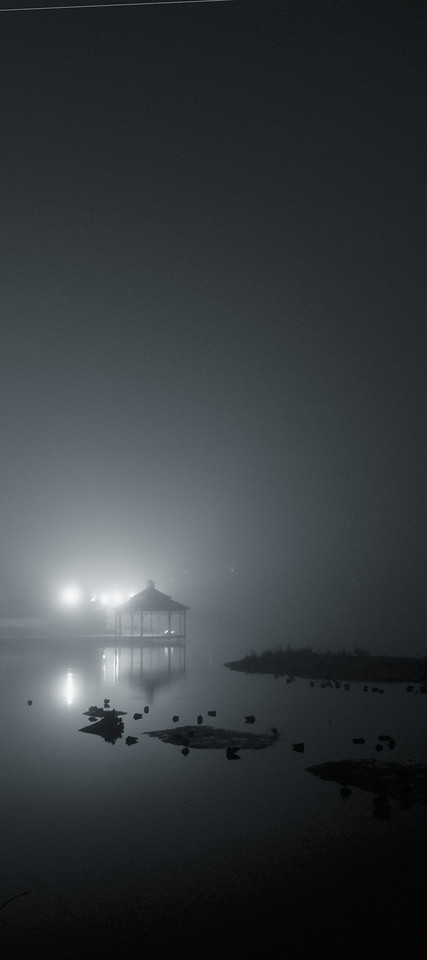 """Silver Lake Fog No.1""<br /> Waterloo Park, Waterloo, Ontario.<br /> Image # BJ28"