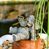 Elephant in a Koi Pond_SS5464