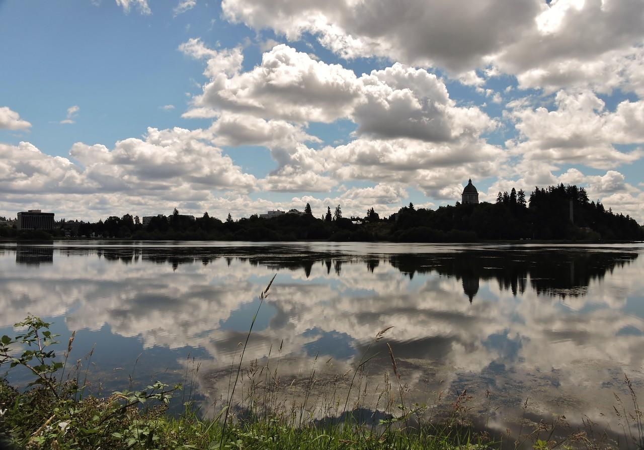 Capitol Lake reflections
