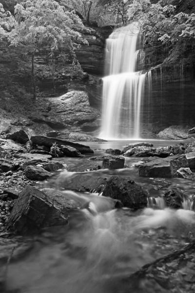 Rattlesnake Falls 2, B&W