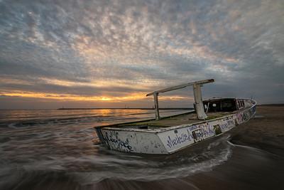 Abandoned shipwreck in Playa Del Rey