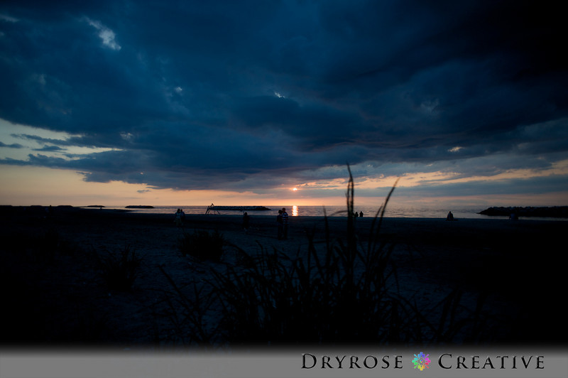 Sunset on the Beach at Presque Isle State Park