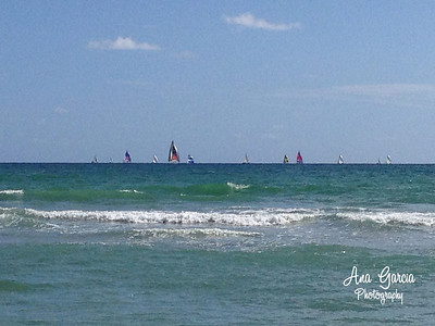 Sailing. Hollywood Beach, Florida