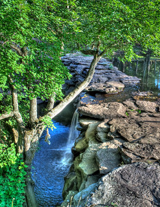 Waterfall at Davies Bridge on Petit Jean Mountain