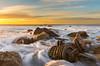 SS Dominator shipwreck remains, Palos Verdes sunset