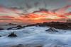Sunset seascape from Golden Cove, Palos Verdes