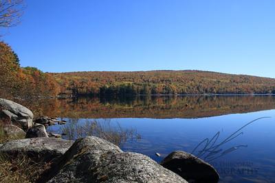 frshwater lake in autumn
