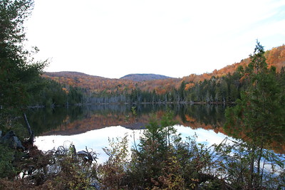 Maine lake in autumn
