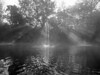 "Called the ""Julia Method"", after niece Julia's award-winning photo of crepuscular rays in the fog in North Georgia...made while kayaking on the Duck River, near Columbia, Tennessee. Converted to black & white."