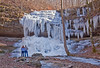 Just as I was packing up to leave the falls (because people showed up), I saw that the couple gave scale to the image; I threw up the camera, snapped, and it ended up on the front page of the local newspaper...