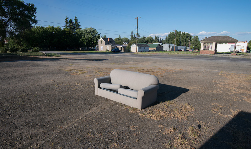 Couch in downtown Waterville