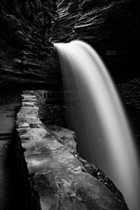 Just one of the waterfalls at Watkins Glen. See more shots here: http://goo.gl/1Mx71s