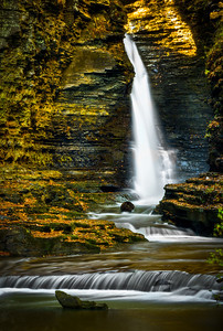 A 60 foot waterfall in Watkins Glen State Park
