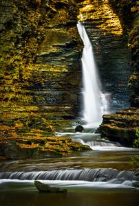 A 60 foot waterfall in Watkins Glen State Park