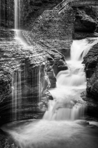 Rainbow Falls in Black & White.
