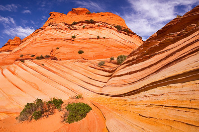 Sandstone formations in the Pawhole area of the South Coyote Buttes.