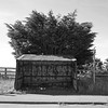 Corrugated iron bus shelter
