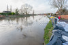 "The River Parrett is ""full to the brim"" at Burrowbridge"