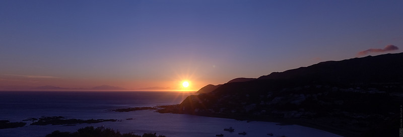 This is a panoramic stitch taken from my sister-in-law's house above Island Bay.