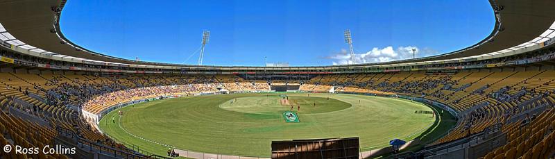 Westpac Stadium, with International Cricket ODI NZ vs. West Indies in progress, 18 February 2006