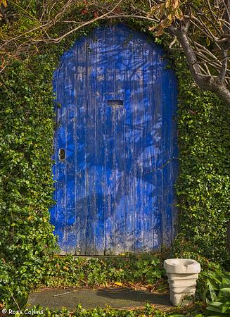 Front gate to a house near Karaka Bay wharf