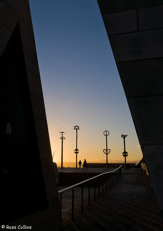 City to Sea Bridge at Daybreak, Wellington, 25 June 2007