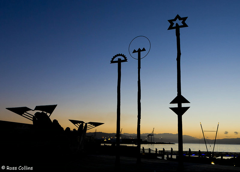 City to Sea Bridge at Daybreak, Wellington, 25 June 2007