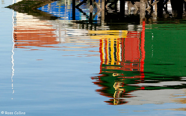 Refections of Evans Bay, Wellington Harbour, 23 August 2010