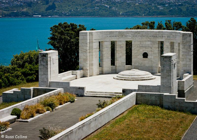 William Massey Memorial Overlooking Wellington Harbour, Point Halswell, Wellington, 25 November 2007