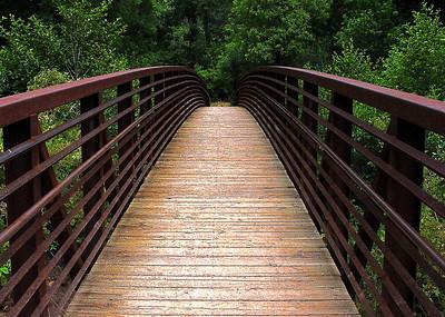 Bridge over Oak Creek at the confluence of Oak Creek and the West Fork of Oak Creek