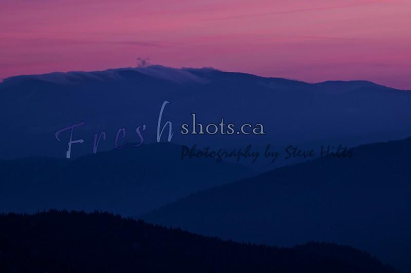 Sunset from Deer Park Hill, Rossland, BC