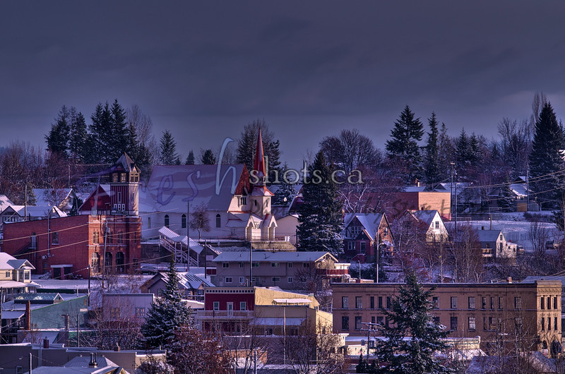 Rossland at sunrise (early winter)