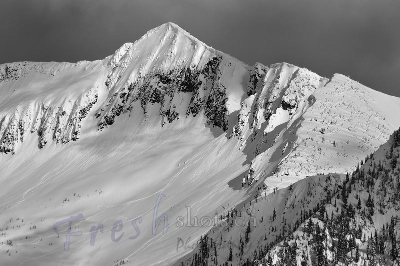 Ymir Peak, at Whitewater Ski Resort, Nelson, BC