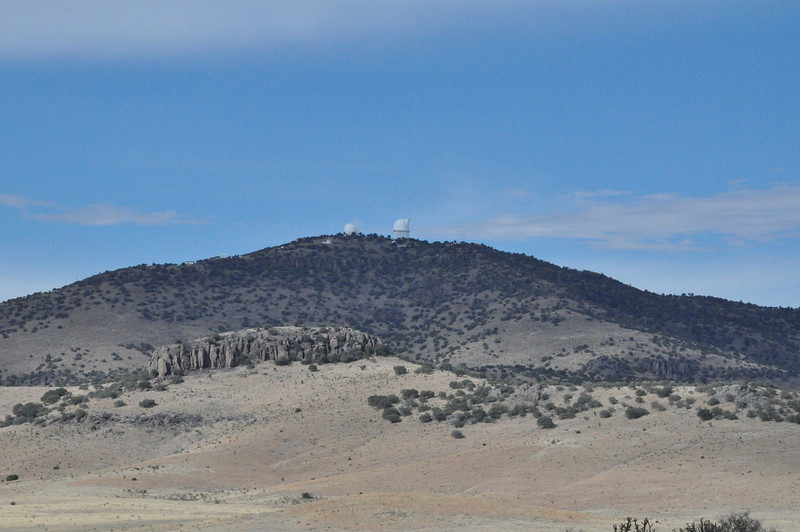 The observatories in the distance