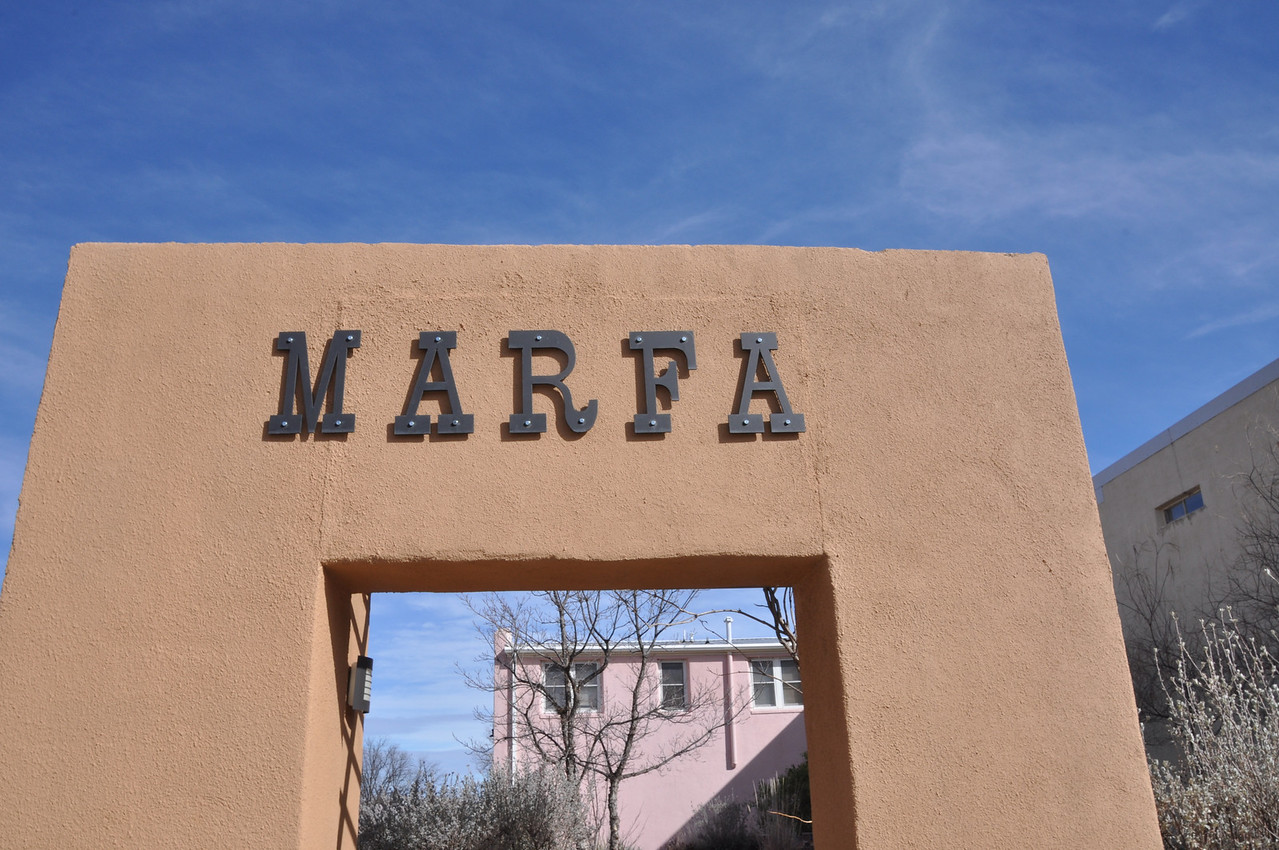 A monument in Marfa