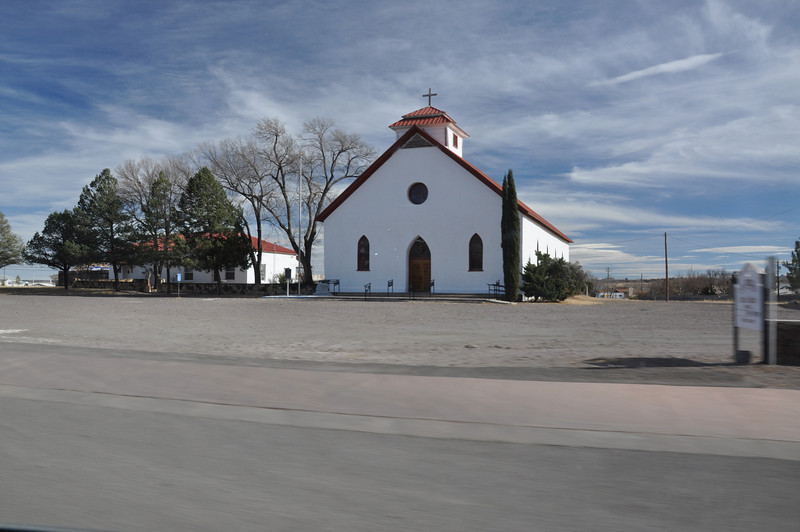 A church in Fort Davis