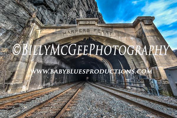 Harpers Ferry West Viginia - B&O Railroad Tunnel - 22 Jan 2018