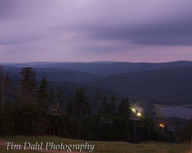 Sunset on Snowshoe Resort