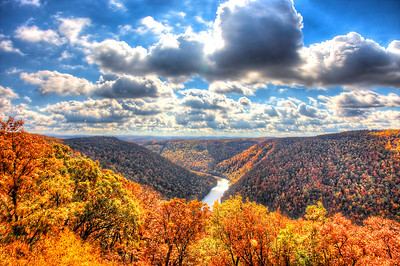 The Cheat River Gorge from Cooper's Rock.
